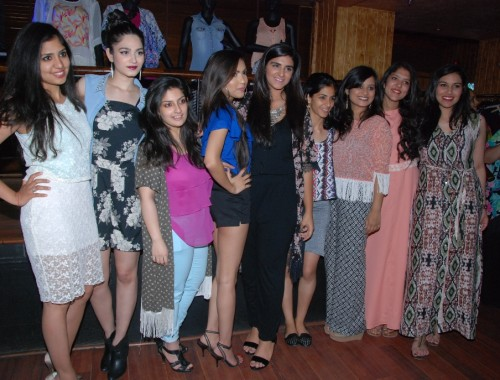 Designer Avni Aneja shocasing her collection