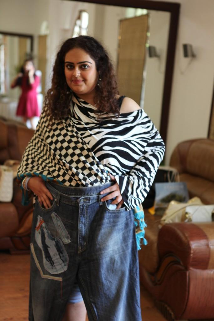 Blogger Nidhi Arora with her refurbished denim
