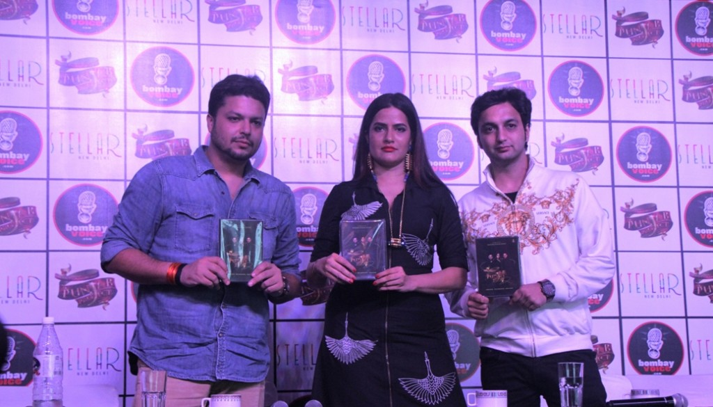 L-R_Paras Sunda, Sona Mohapatra & Sumit Sethi after the Press Conference during day time