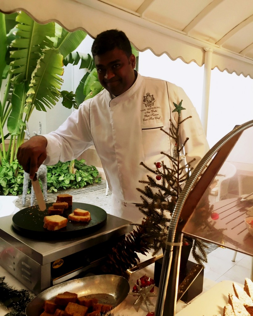Chef Prem Kumar Pogakula- Executive Sous The Imperial doing Xmas special cook out at the Xmas Banter at The Imperial (1)