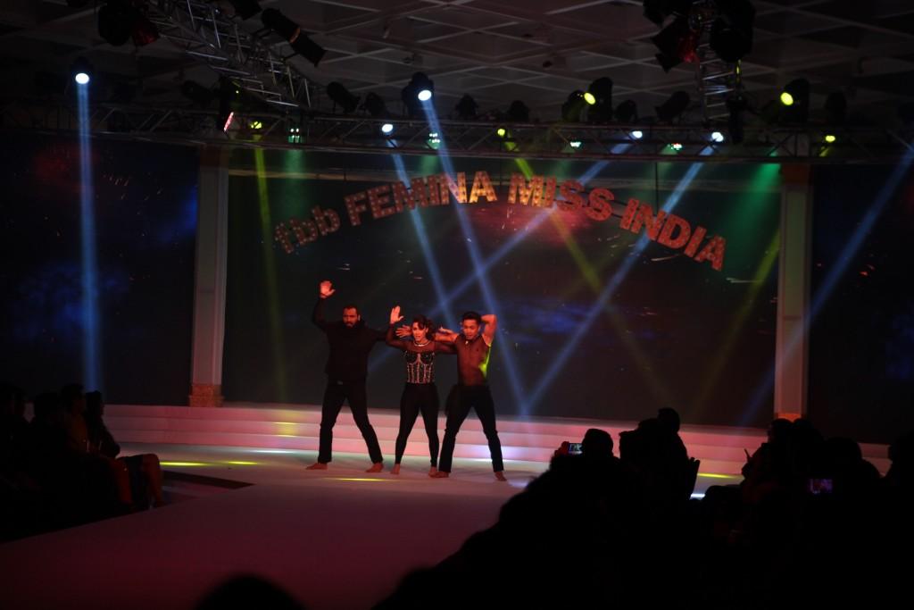 Dancer Lauren Gottlieb & Choreographer Deepak & Puneet Performing at Grand Finale of Femina Miss India Delhi Region 2016