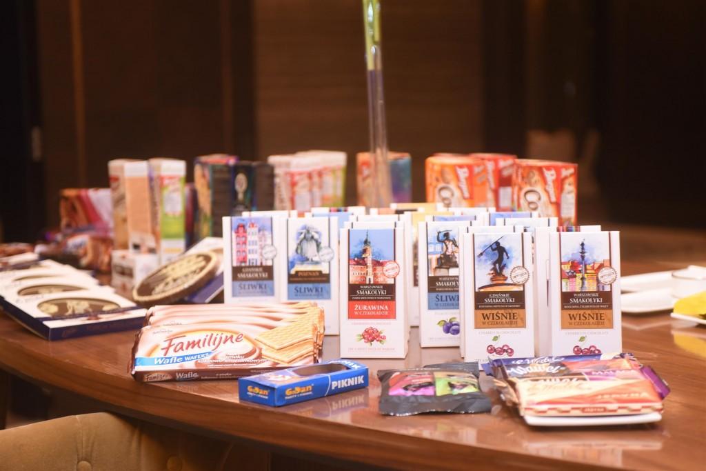 Polish confectionery on display