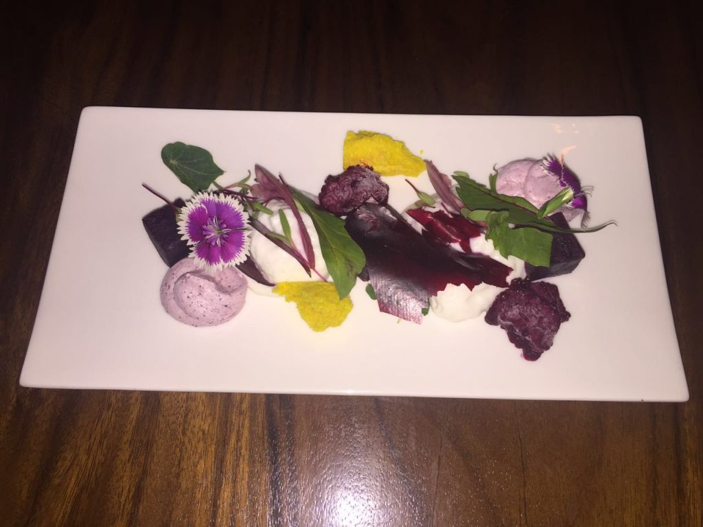 The Beet & Goat cheese salad