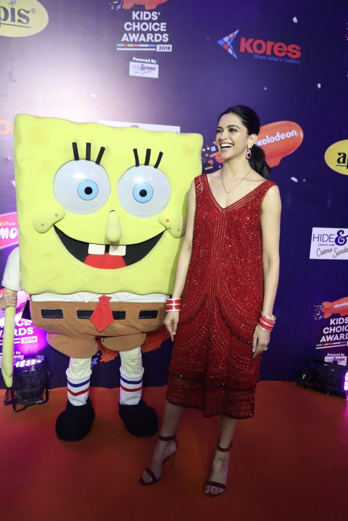 Deepika glowing with joy on Nickelodeon Kids Choice Awards
